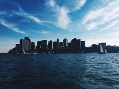 Sunday blues.   Bit by Bon   Boston Harbor. Summer. Blues.