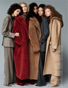 Vogue Netherlands September 2017 Nirvana Naves, Nandy Nicodeme, Meta Gewald by Paul Bellaart - Max Mara Max Mara, Vogue, Look Fashion, Winter Fashion, Style Photoshoot, Industry Models, Teddy Bear Coat, Look Street Style, Mode Editorials