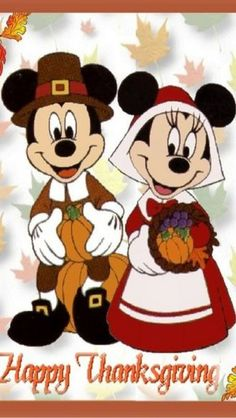iPhone Wallpaper - Thanksgiving is so cute with Mickey and Minnie dressed in Pilgrim outfits Happy Thanksgiving Images, Disney Thanksgiving, Thanksgiving Wallpaper, Thanksgiving Greetings, Holiday Wallpaper, Thanksgiving Crafts, Disney Wallpaper, Iphone Wallpaper, Thanksgiving Sayings