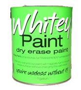 transparent dry erase paint-- Josh is jumping for joy!