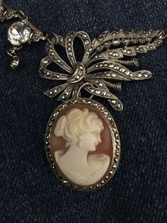 Fulfill a Wedding Tradition with Estate Bridal Jewelry Cameo Jewelry, Cameo Necklace, Diy Necklace, Jewelry Design, Copper Jewelry, Necklaces, Stylish Jewelry, Marcasite, Bridal Jewelry