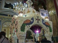 Impressive Epitaph decorations during Greek Easter | Orthodox church, Greece