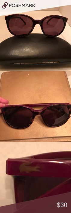 Lacoste sunglasses Tortoise brown outside frame with but fancy inside king. Great condition Lacoste Accessories Glasses