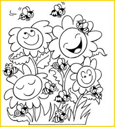 * Zoek dezelfde bijen en kleur ze hetzelfde!