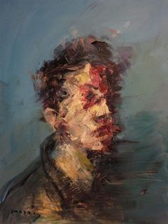 untiled (Painting),  80x100x3 cm by MASRI portrait series