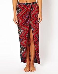 Printed Beach Skirt by ASOS