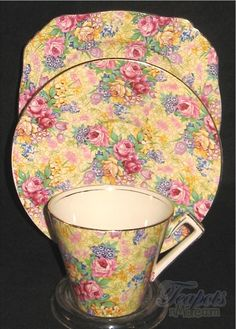 This is my favorite Chintz look. I have a few of these, including a very old demitasse set I picked up in an antique store in Fairbanks, AL. Who knew?