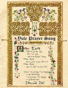 """Book of Shadows:  """"Yule Prayer Song, Illuminated Manuscripts,"""" by *Brightstone, at deviantART."""