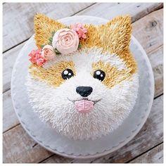 dog cakes for kids ~ dog cake recipe ; dog cakes for dogs ; dog cakes for kids ; Pretty Cakes, Cute Cakes, Puppy Party, Dog Birthday, Cupcakes For Birthday, Puppy Birthday Cakes, Savoury Cake, Creative Cakes, Cake Recipes