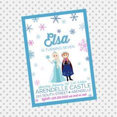 FROZEN Inspired Princess Invitation  Frozen by aprettylittleparty, $12.00