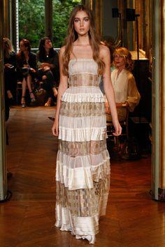 Alberta Ferretti Limited Edition Fall 2016 Couture Fashion Show - Amalie Moosgaard