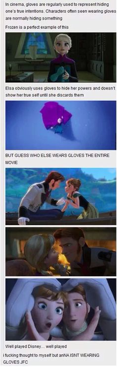 Frozen meme analysis - gloves!