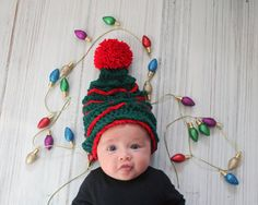 Christmas hat Christmas tree baby hat Crochet by CrochetBoutiqueKL
