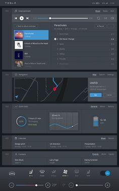 Tesla – Redesign de la console centrale par UNITiD-2