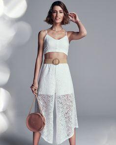 #VemProvar Lace Skirt, Look, Skirts, Fashion, Parties, Ideas, Moda, La Mode, Skirt
