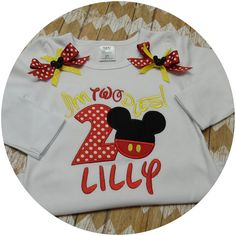 Mickey Mouse Clubhouse Personalized Embroidery by WhomadeDatNola