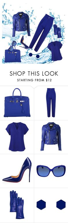 """The Blue"" by rolivian ❤ liked on Polyvore featuring Hermès, 3.1 Phillip Lim, Yves Saint Laurent, Christian Louboutin, Coach, Bloomingdale's and Wolf & Moon"