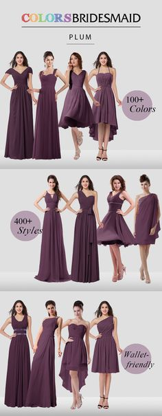 Bridesmaid dresses are all custom made to flatter your figure and $69 up