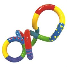 """Twist it/turn it therapy fun! Longer length and wider tubing make this model easier to grasp and manipulate. Interchangeable smooth and raised surfaces offer various levels of tactile sensation.   Comes in Assorted Colors. SIZE: Approx. 14 1/2 """"L end to end when opened."""