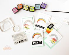 Introducing Over It Mini Stamp Set Gift With Purchase At EllenHutson.com
