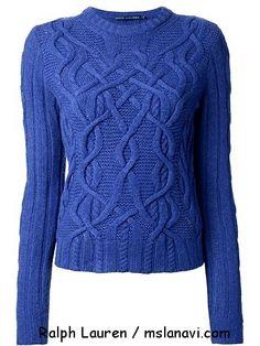 Knitted pullover spokes Ralph Lauren