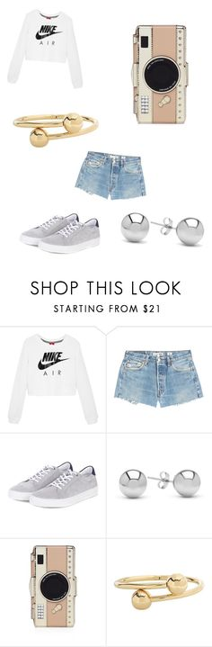 """""""Suggested Outfit #5"""" by cutecookiegirl ❤ liked on Polyvore featuring NIKE, RE/DONE, Barbour, Jewelonfire, Kate Spade and J.W. Anderson"""
