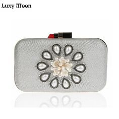 2017 Lipstick Clasp Clutch Bag Flower Day Clutch women Evening bags Party Totes Handbags ladies Shoulder portable bag Mini purse