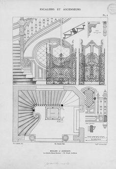 Escaliers et ascenseurs : ensembles et details d\'ex... | Lambert, Theodore