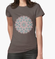 mandala#31 on pink background by kanvisstyle #redbubble #mandala #lineart #Fineline #pattern #kanvisstyle