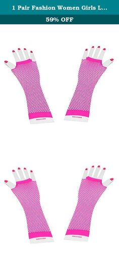 1 Pair Fashion Women Girls Long Mesh Hollow Fingerless Gloves Gothic Punk Rock Rose Pink. Features: 100% brand new and high quality. This unique mesh design makes you special among people. Perfect decoration accessories in party & club. Specification: Material: 94% nylon,6% spandex Pattern: Mesh Size: 24-26cm Package Include: 1 pair x gloves.