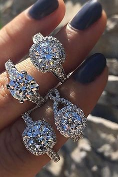 Halo Engagement Rings Or How To Get More Bling For Your Money �� See more: http://www.weddingforward.com/halo-engagement-rings/ #weddings#engagement rings