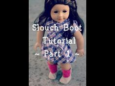 Slouch Boot Pattern and Tutorial for American Girl Doll | Many Small Friends