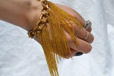 chain tassel bracelet $35.00