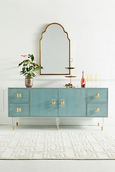 Discover the newest additions to Anthropologie's house & home collection. Shop new furniture, decor, storage & more for your home. Hanging Furniture, Cabinet Furniture, Unique Furniture, Furniture Decor, Painted Furniture, Furniture Design, Lacquer Furniture, Ikea Furniture Makeover, Furniture Cleaning