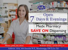 We Believe To Serve You, Not To Earn From You. Medx Clinic Offers Special Discount On Its Pharmacy, Whenever You Need us We're Here To Protect You. Call: 289-521-8844 Or Call: 289-521-8845 #Doctor #Health #Care #Clinic #Recovery #GoodHealth #GoodWealth
