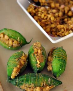 Remembering my granny and Channa Dal Stuffed Karelas Recipe Lunch Recipes, Vegetarian Recipes, Cooking Recipes, Healthy Recipes, Breakfast Recipes, Celiac Recipes, Chickpea Recipes, Vegetarian Cooking, Fun Cooking