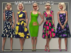 """suebarr753:  sssvitlans:  """"Michael Kors"""" by All About Style (Sims 4)Whole casual outfits for Adult/YA/Teen/Elderhttp://www.all-about-style.com/sims4.html  dresses to die for…"""