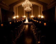 Dallas/Fort Worth Wedding Venue -Chapel at Piazza in the Village Love the chandeliers