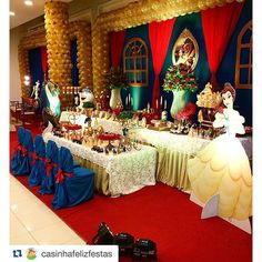 Beauty And Beast Birthday, Beauty And The Beast Theme, Beauty And Beast Wedding, Beauty And The Best, Bella Disney, Be Our Guest Disney, Princess Belle Party, Quinceanera Themes, Tea Party Theme