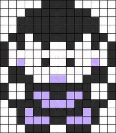Brock Sprite Pokemon Perler Bead Pattern / Bead Sprite