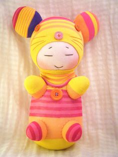 Plush Art Baby Mouse Sock Doll.