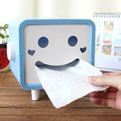 Smiley Face Tissue Box - Tabletop Decor - Home & Office - FeelGift