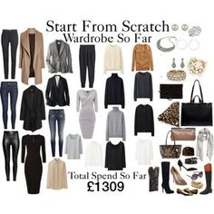 Start From Scratch Wardrobe Steps 1 - 15 by charlotte-mcfarlane on Polyvore featuring Uniqlo, H&M, ALDO, Office, J by Jasper Conran, Chinese Laundry, Minnetonka, Zara, MANGO and Dune