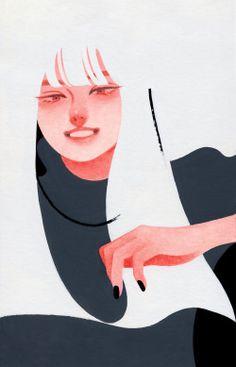 Drawing 『 ESPRIT 』 2018.09.16 MOLESKINE acryl gouache, watercolor Graphic Design Illustration, Graphic Art, Illustration Art, Posca Art, Exotic Art, Collage Design, Japan Design, Character Design Animation, Stop Motion