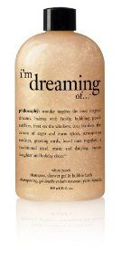 Philosophy I'm Dreaming of Shampoo/Shower Gel/Bubble Bath, White Peach, 16 Ounces by Philosophy. $29.99. Rich, foaming lather. Bring holiday dreams to life. Leaves skin and hair feeling ultra soft. Bring holiday dreams to life during your shower or bath. White peach shampoo, shower gel & bubble bath inspire effervescent joy with a sparkling fruit scent. This luxurious, pearlized rich and creamy formula gently cleanses and conditions skin and hair and leaves you d...