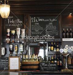 Dentro da visão de um pub inglês — Stock Image #9728419