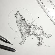 Image result for geometric drawings animals black and white