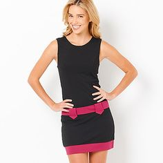 DYT Type 4 dress: Hot Options 60's Style Shift Dress - Black / Pink (Target)