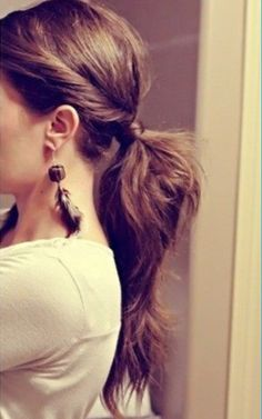 Flirty ponytail - This is so cute!