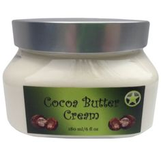 Organic Cocoa Butter Cream by Arnies Amazing 6 Ounce Container of Non Greasy Ready to Use Body Butter *** Click image for more details.
